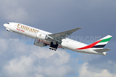 Emirates SkyCargo (Emirates Airline) Boeing 777-F1H A6-EFO (msn 42233) LAX (Michael B. Ing). Image: 930557.