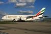 Emirates Airline Airbus A380-861 A6-EEH (msn 119) (Expo 2020 Dubai UAE) LHR. Image: 933973.