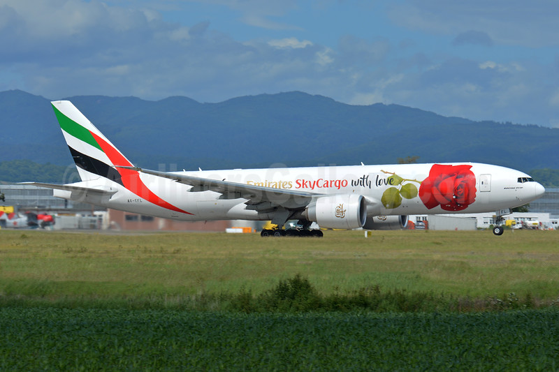 "2017 ""From Emirates SkyCargo with love"" special livery"