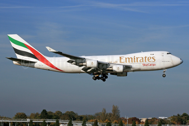 Emirates SkyCargo (Emirates Airline) (TNT Airways) Boeing 747-4HAF OO-THC (msn 35235) LHR (SPA). Image: 930201.