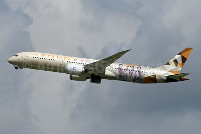 Etihad Airways Boeing 787-9 Dreamliner A6-BLG (msn 39652) (Special Olympics Abu Dhabi World Games 2019) BRU (Karl Cornil). Image: 947832.