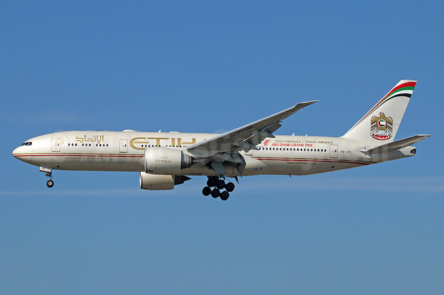 Etihad Airways (Air India) Boeing 777-237 LR A6-LRC (msn 36302) LAX (Michael B. Ing). Image: 925318.