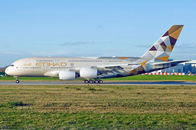 Etihad Airways' first Airbus A380
