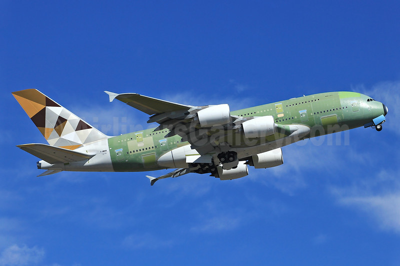 The first Airbus A380 for Etihad Airways