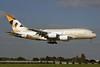 Etihad Airways Airbus A380-861 A6-APA (msn 166) LHR (SPA). Image: 930982.