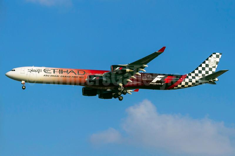 2014 version of Etihad Airways' Abu Dhabi Grand Prix logo jet