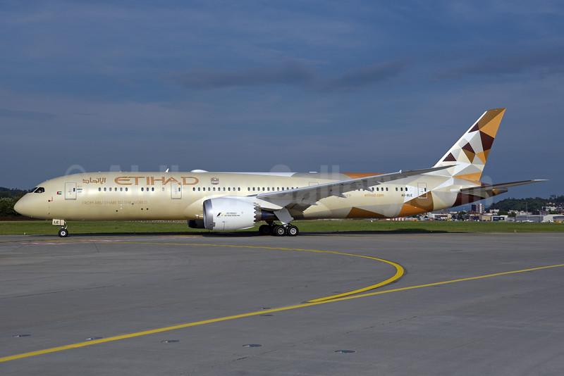 Etihad Airways Boeing 787-9 Dreamliner A6-BLE (msn 39650) ZRH (Rolf Wallner). Image: 928500.
