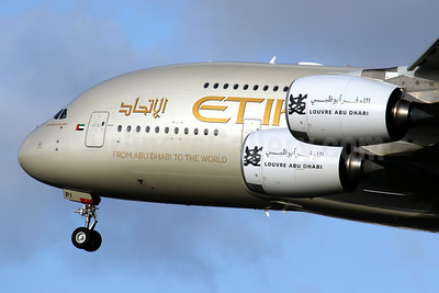 Etihad Airways Airbus A380-861 A6-API (msn 233) (Louvre Abu Dhabi) LHR (SPA). Image: 940640.