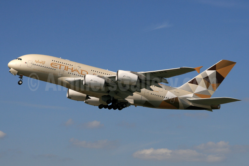 Etihad Airways second A380, delivered April 24, 2015