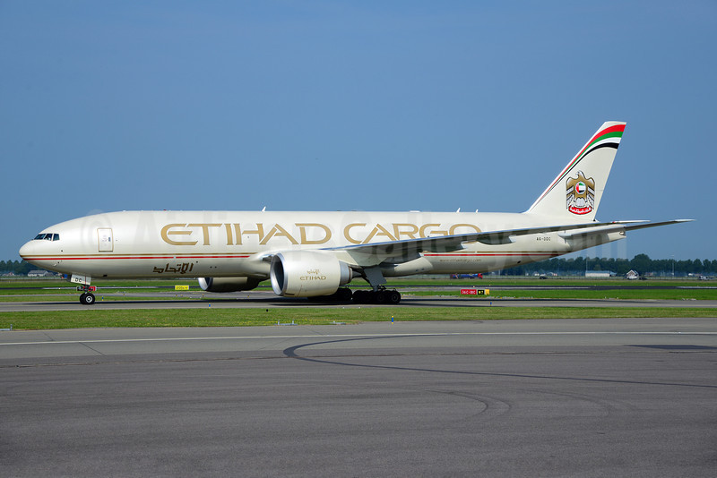 Etihad Airways Cargo (Etihad Airways) Boeing 777-FFX A6-DDC (msn 39691) AMS (Ton Jochems). Image: 913415.