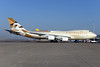 The first Boeing 747 in the new Etihad Airways livery