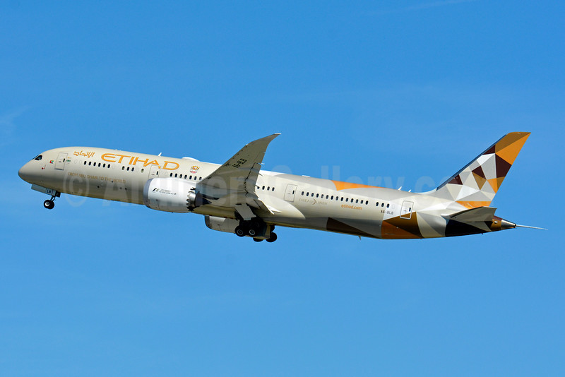Etihad Airways Boeing 787-9 Dreamliner A6-BLB (msn 39647) ZRH (Paul Bannwarth). Image: 929112.