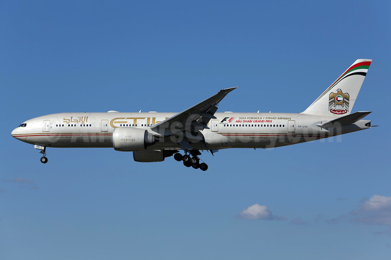 Etihad Airways (Air India) Boeing 777-237 LR A6-LRA (msn 36300) LAX (James Helbock). Image: 930917.