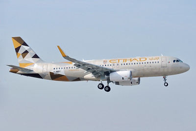 First Etihad Airways A320 in the new livery