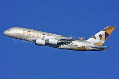 Etihad Airways Airbus A380-861 A6-APA (msn 166) LHR (SPA). Image: 926069.