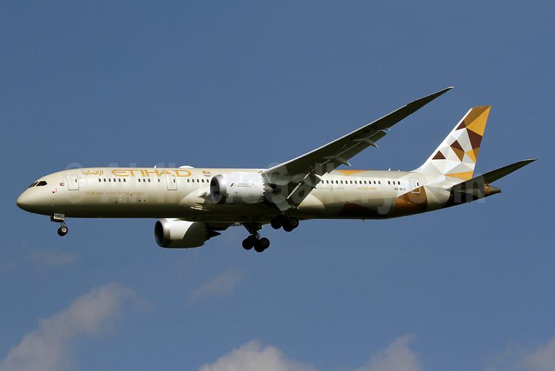 Etihad Airways Boeing 787-9 Dreamliner A6-BLD (msn 39649) IAD (Brian McDonough). Image: 929214.