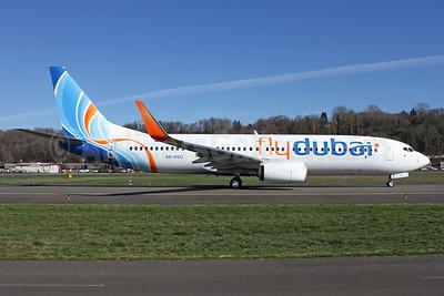 Flydubai Boeing 737-8KN WL A6-FEU (msn 40273) BFI (Brandon Farris). Image: 926389.