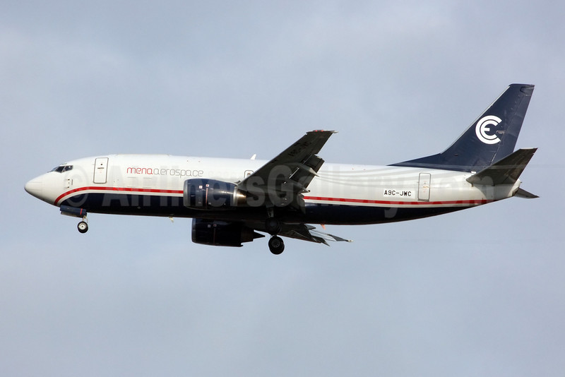 Mena Aerospace Boeing 737-3G7 (F) A9C-JWC (msn 24711) BKK (Jay Selman). Image: 402288.