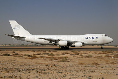 Midex Airlines Boeing 747-228F A6-MDH (msn 24735) SHJ (Paul Denton). Image: 913883.