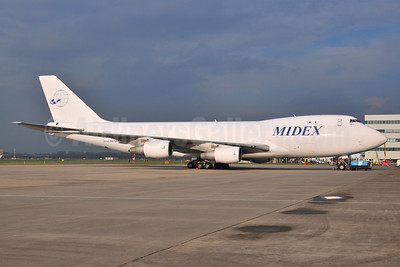 Midex Airlines Boeing 747-228F A6-MDG (msn 25266) AMS (Ton Jochems). Image: 903883.