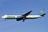 Uzbekistan Airways Boeing 767-33P ER VP-BUF (msn 33078) LHR (Antony J. Best). Image: 900613.