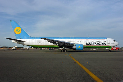 Uzbekistan Airways Boeing 767-33P ER VP-BUA (msn 28370) JFK (Ken Petersen). Image: 904051.