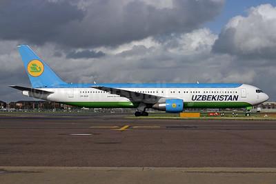 Uzbekistan Airways Boeing 767-33P ER VP-BUF (msn 33078) LHR (SPA). Image: 937009.