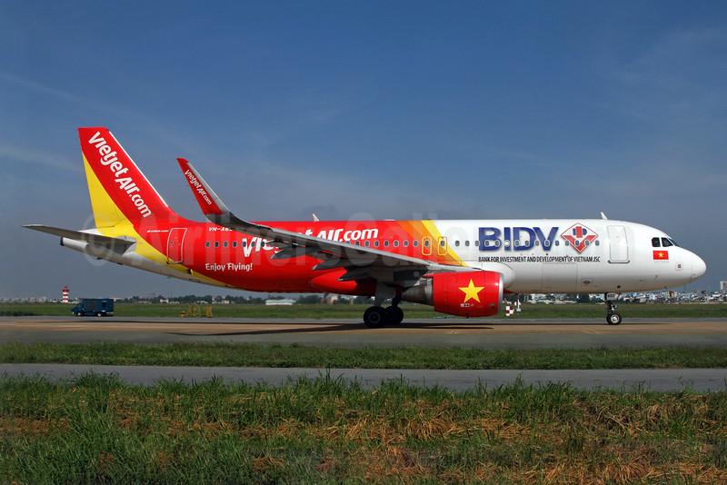 VietJetAir's special A320 BIDV logo jet