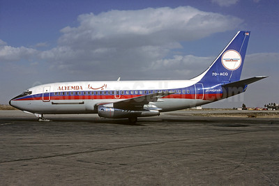 Alyemda Air Yemen Boeing 737-2R4C 7O-ACQ (msn 23129) DAM (Christian Volpati Collection). Image: 930303.