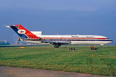Yemenia (Yemen Airways) Boeing 727-2N8 4W-ACF (msn 21844) LGW (SM Fitzwilliams Collection). Image: 911012.