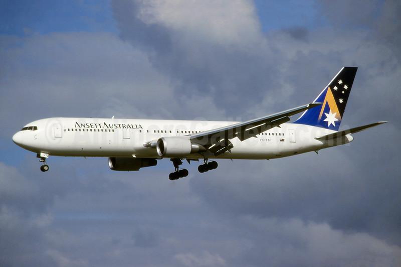 Ansett Australia Boeing 767-324 ER VH-BZF (msn 27569) (Olympic Torch Relay) SYD (John Adlard). Image: 926354.