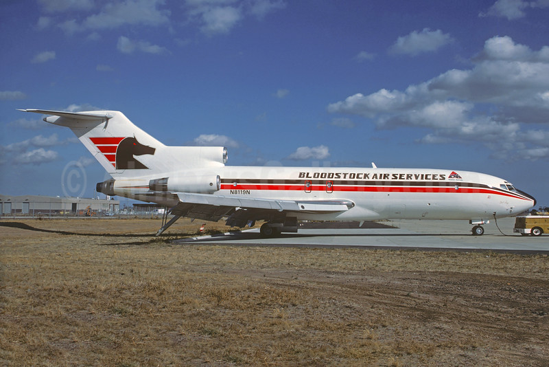 Bloodstock Air Services (TAA) Boeing 727-25 (F) N8119N (VH-LAP) (msn 18270) MEL (Christian Volpati Collection). Image: 934233.