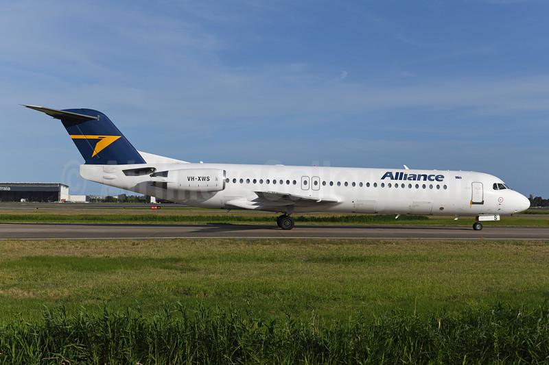 Alliance Airlines (Australia) Fokker F.28 Mk. 0100 (Fokker 100) VH-XWS (msn 11314) BNE (Ton Jochems). Image: 945035.