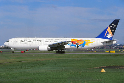Ansett's 2000 Olympic Torch Relay special livery