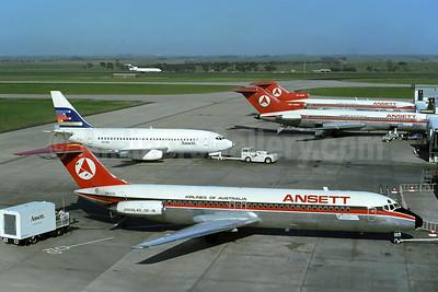 Ansett Australia aircraft at Melbourne (MEL) (Rob Finlayson). Image: 930819.
