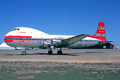 Ansett Airlines-ANA Aviation Traders ATL-98 Carvair (Douglas DC-4-1009) VH-INK (msn 42994) BNE (Jacques Guillem Collection). Image: 949582.