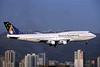 Ansett Australia (Ansett Airlines) Boeing 747-312 VH-INH (msn 23026) HKG (Rolf Wallner). Image: 902624.
