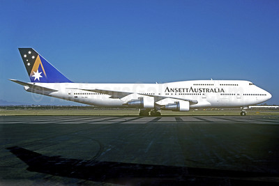 Ansett Australia (Ansett Airlines) Boeing 747-312 VH-INH (msn 23026) MEL (Jacques Guillem Collection). Image: 939144.