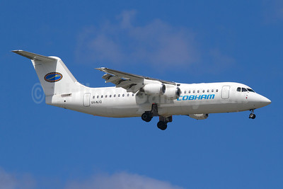 Cobham Aviation Services Australia BAe 146-200 VH-NJQ (msn E2072) PER (Micheil Keegan). Image: 908539.