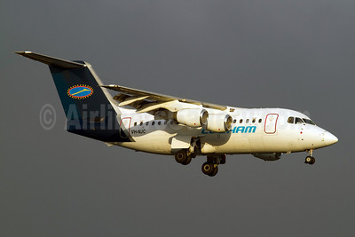 Cobham Aviation Services Australia BAe 146-100 VH-NJC (msn E1013) PER (Micheil Keegan). Image: 907898.