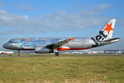 Jetstar Airways (Jetstar.com) (Australia) Airbus A320-232 VH-VQQ (msn 2537) (Sea World-dolphin) SYD (John Adlard). Image: 902446.