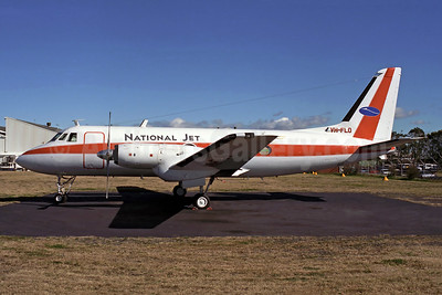 National Jet Systems Grumman G-159 Gulfstream I VH-FLO (msn 100) (Rob Finlayson). Image: 951798.
