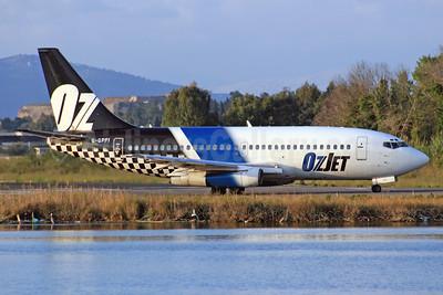OzJet Airlines Boeing 737-229 G-GPFI (msn 20907) CFU (SPA). Image: 940792.