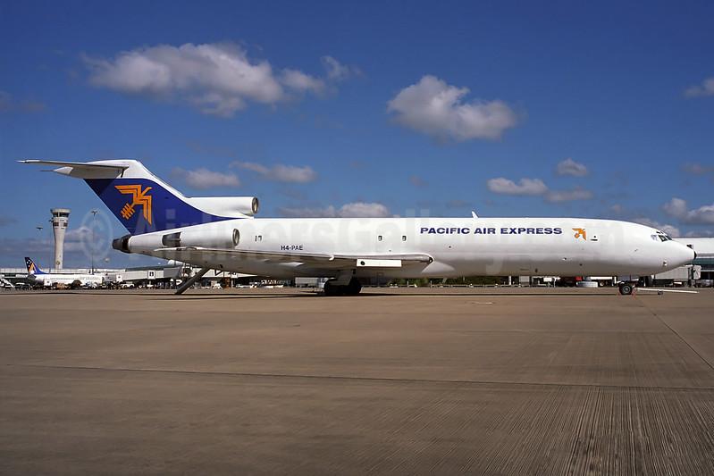 Pacific Air Express (Australia) Boeing 727-281 (F) N214F (H4-PAE) (msn 21455) BNE (Rob Finlayson). Image: 936624.
