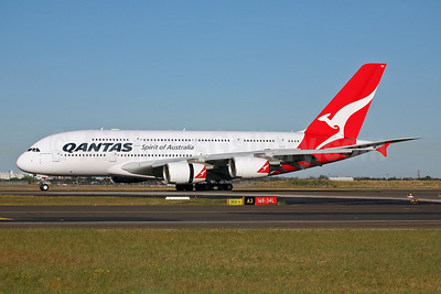 QANTAS Airways Airbus A380-842 VH-OQA (msn 014) SYD (John Adlard). Image: 901174.