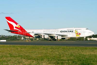 QANTAS Airways Boeing 747-438 VH-OJU (msn 25566) (Spirit of the Australian Team) SYD (Micheil Keegan). Image: 909366.