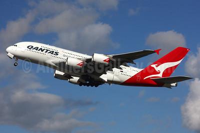 QANTAS Airways Airbus A380-842 VH-OQK (msn 063) LHR (SPA). Image: 936247.