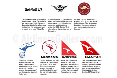QANTAS Airways logos through the years (QANTAS)