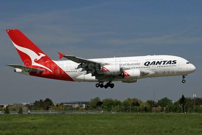 QANTAS Airways Airbus A380-842 VH-OQK (msn 063) LHR (SPA). Image: 936246.