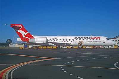 QANTAS Link-Cobham Aviation Services Australia Boeing 717-2BL VH-YQW (msn 55194) (Tasmanian Devil - Discover Tasmania) (Jacques Guillem Collection). Image: 927181.